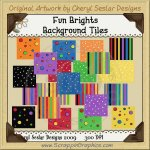 Fun Brights Background Tiles Clip Art Graphics