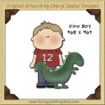 Dino Boy Single Graphics Clip Art Download