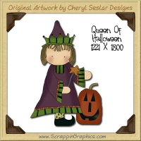Queen Of Halloween Single Graphics Clip Art Download