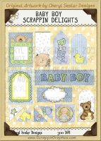 Baby Boy Scrappin' Delights Clip Art Graphics