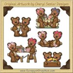 Raggedy Bears Best Pals Graphics Clip Art Download