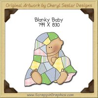Blanky Baby Single Clip Art Graphic Download