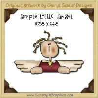 Simple Little Angel Single Graphics Clip Art Download
