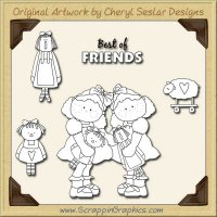 Best Of Friends Digital Stamp Set Limited Pro Clip Art Graphics