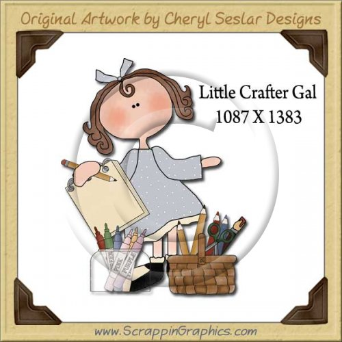 Little Crafter Gal Single Graphics Clip Art Download