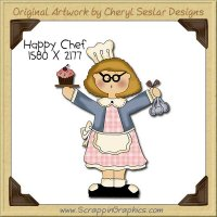 Happy Chef Single Clip Art Graphic Download