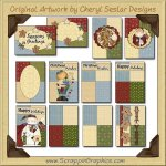 Christmas Hodge Podge Sampler Card Printable Craft Download