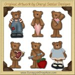 Everyday Bears Graphics Clip Art Download