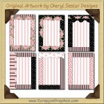 Chic Pink Greeting Card Frames Printable Craft Download