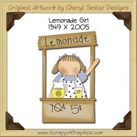 Lemonade Girl Single Graphics Clip Art Download