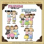 Friends Forever Collection Graphics Clip Art Download