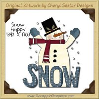 Snow Happy Single Clip Art Graphic Download