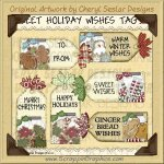 Sweet Holiday Wishes Tags Limited Pro Clip Art Graphics
