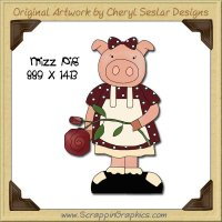 Mizz Pig Single Graphics Clip Art Download