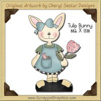 Tulip Bunny Single Graphics Clip Art Download