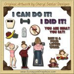 Diet Time Collection Graphics Clip Art Download
