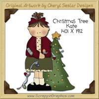 Christmas Tree Kate Single Clip Art Graphic Download