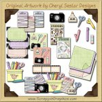 Scrapbook Supplies Collection Graphics Clip Art Download