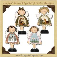 Seasonal Angels Collection Graphics Clip Art Download