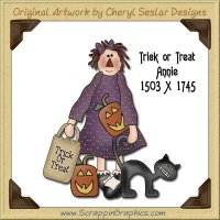 Trick Or Treat Annie Single Graphics Clip Art Download