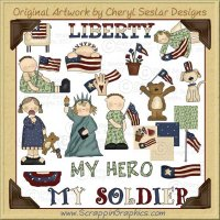 Sweet Land Of Liberty Clip Art Graphics Collection