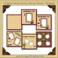 Little Buckaroos Paper Collection Graphics Clip Art Download