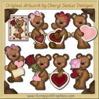 Raggedy Bears Valentines Graphics Clip Art Download