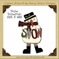 Snow Snowman Single Clip Art Graphic Download
