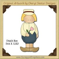 Dutch Boy Single Graphics Clip Art Download