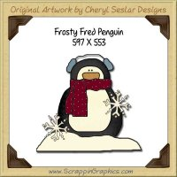 Frosty Fred Penguin Single Graphics Clip Art Download