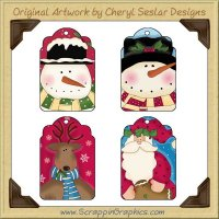 Silly Christmas Tags Two Collection Printable Craft Download