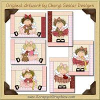 Little Cupid Beauty Cards Collection Printable Craft Download
