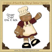 Ginger Chef Single Clip Art Graphic Download