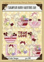 Sugarplum Bunnies Valentine Day Limited Pro Clip Art Graphics