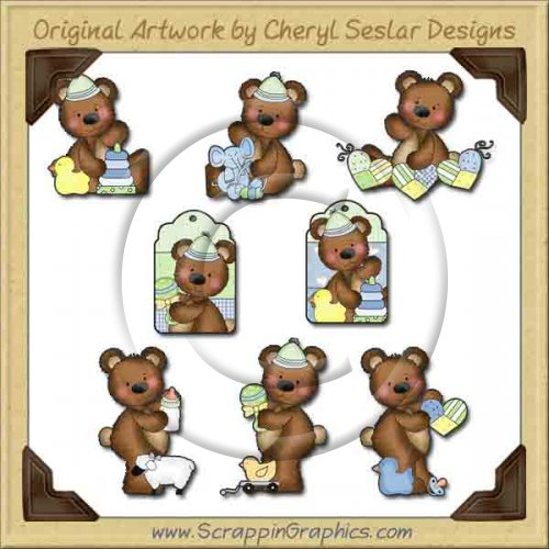 Raggedy Bears Baby Boy Graphics Clip Art Download