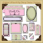 Chic Boutique Journaling Delights Digital Scrapbooking Graphics Clip Art Download
