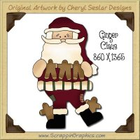 Ginger Claus Single Graphics Clip Art Download