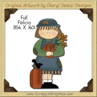 Fall Felicia Single Clip Art Graphic Download