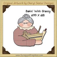 Bakin' With Granny Single Graphics Clip Art Download