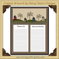 In The Valley To Do Sheet Printable Craft Graphic Download
