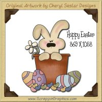 Hoppy Easter Single Graphics Clip Art Download