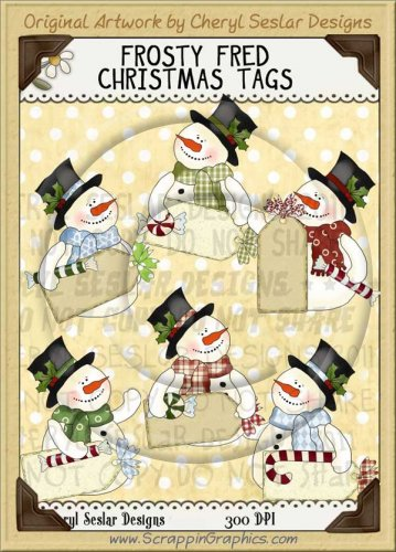 Frosty Fred Christmas Tags Limited Pro Clip Art Graphics