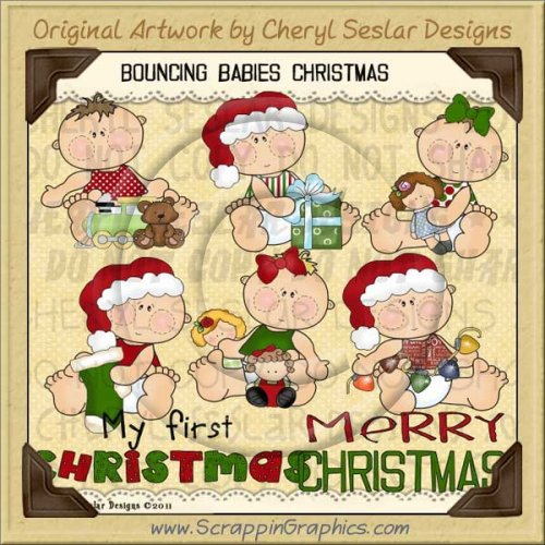 Bouncing Babies Christmas Limited Pro Clip Art Graphics