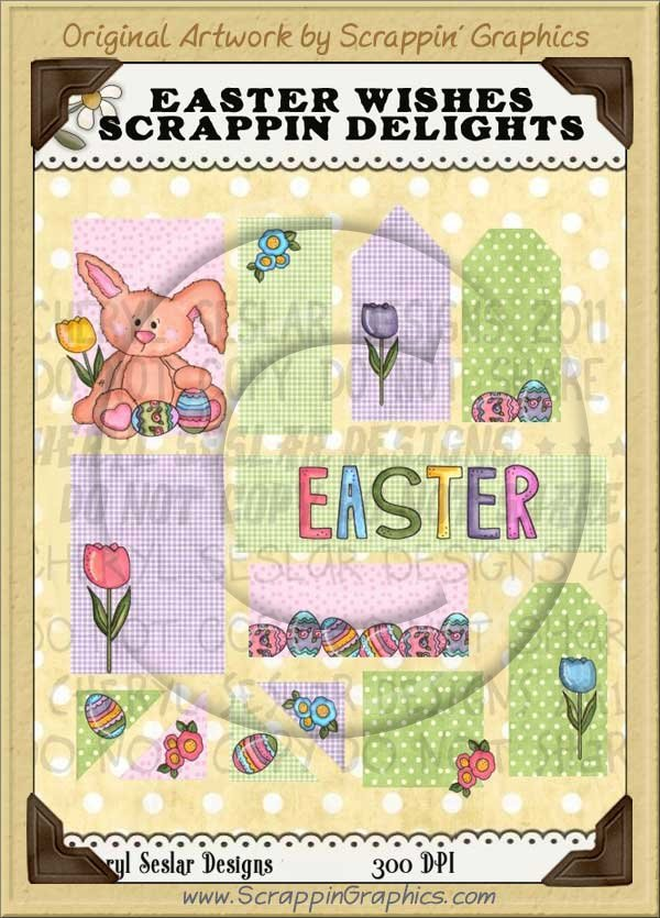 Easter Wishes Scrappin' Delights Clip Art Graphics Collection - Click Image to Close