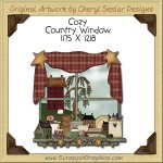 Cozy Country Window Single Clip Art Graphic Download