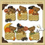Tibble's Halloween Baskets Clip Art Download