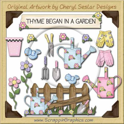 Whimsical Garden Collection Graphics Clip Art Download