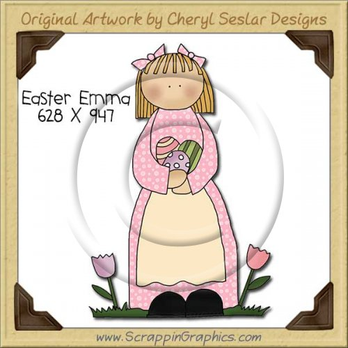 Easter Emma Single Clip Art Graphic Download