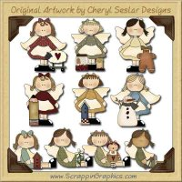 Sweet Little Angels Collection Graphics Clip Art Download