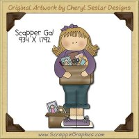 Scrapper Gal Single Clip Art Graphic Download